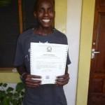 Rama s certifikátom o ukončení 1. roč. v odbore Sociálna práca