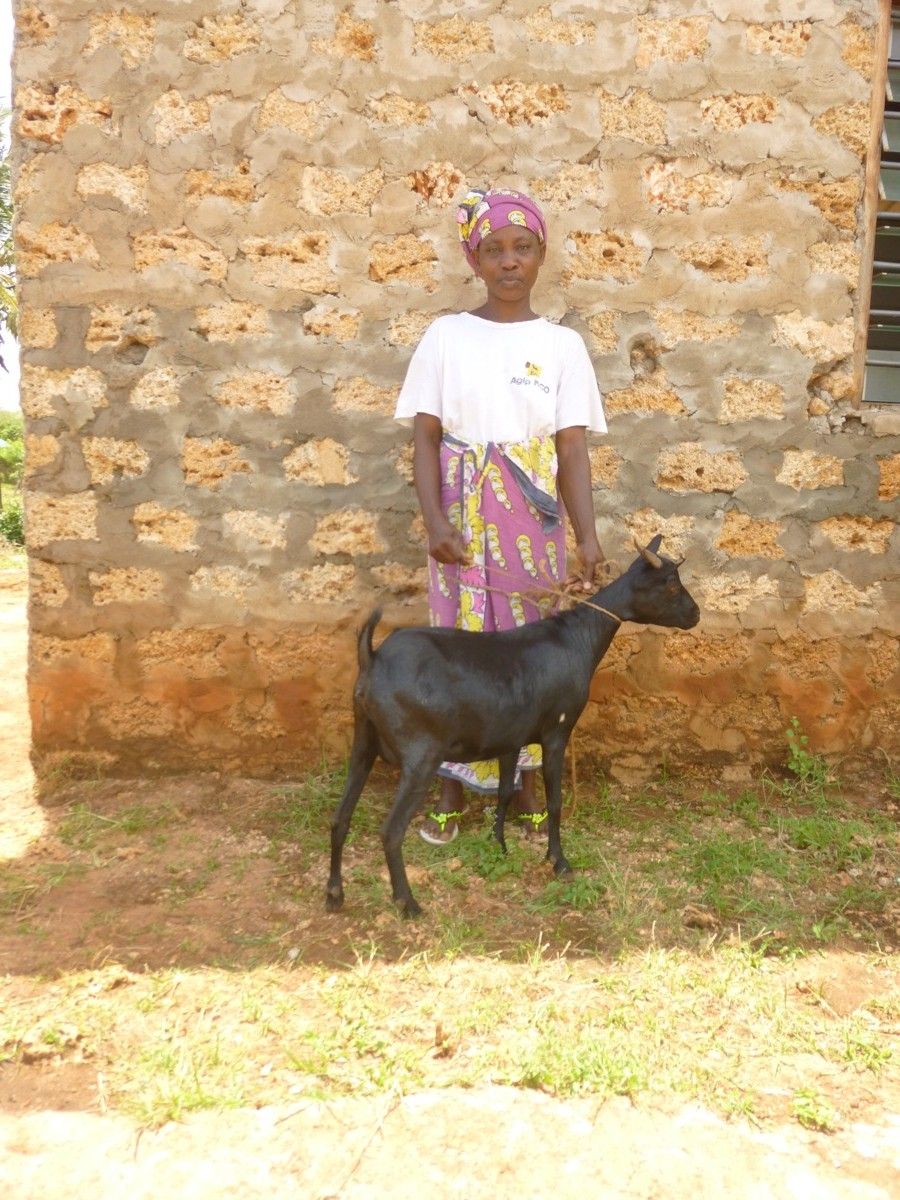 mama harrison with goat