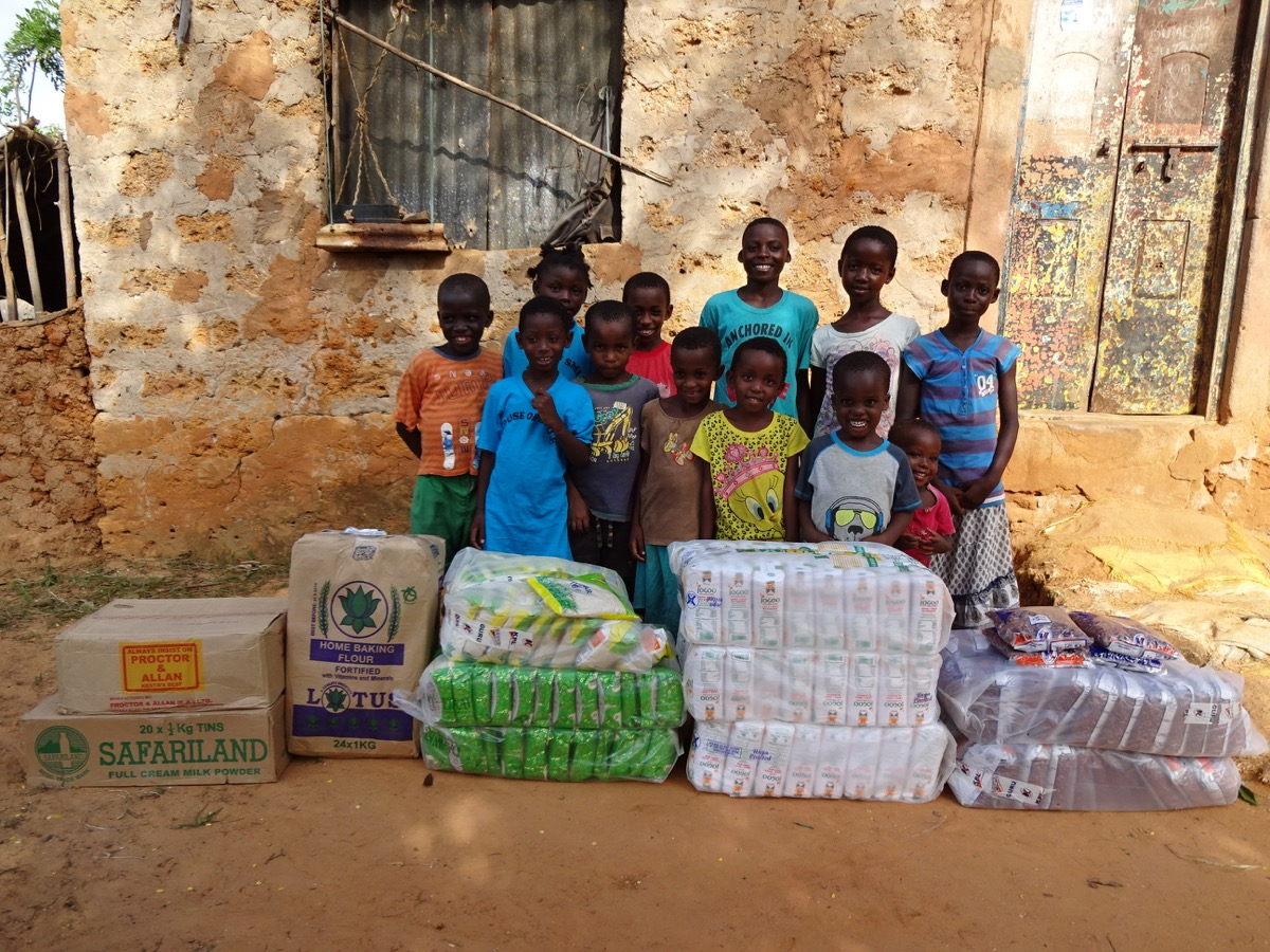 mtwapa creek kids together, food aid 2015. first  place